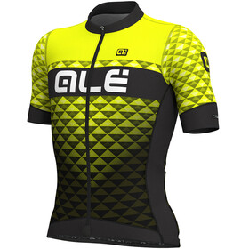 Alé Cycling PRS Hexa SS Jersey Men black-yellow flou
